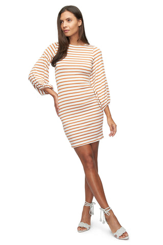 Medina Dress Print - Flan Stripe