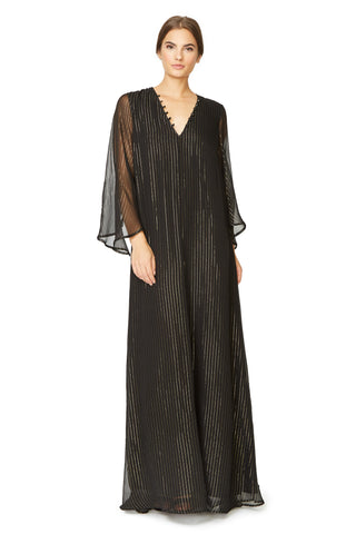 Eneko Dress - Black Gold Silk