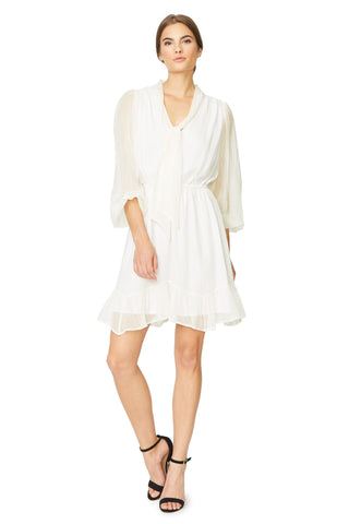 Braydie Dress - Ivory Gold Silk