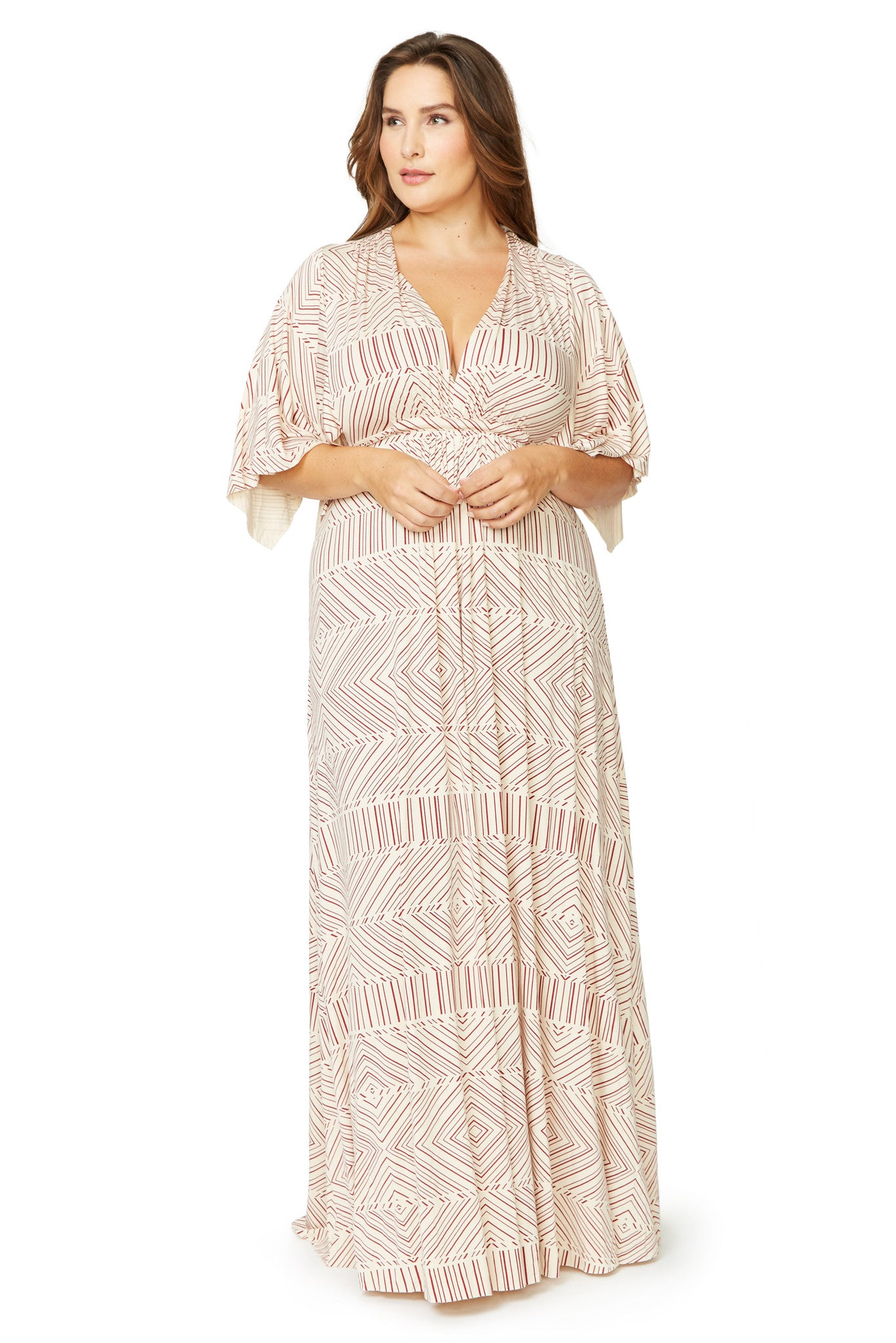 Long Caftan Dress WL Print - Heirloom Optic