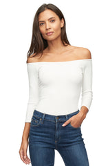 Rib Kimber Top - White