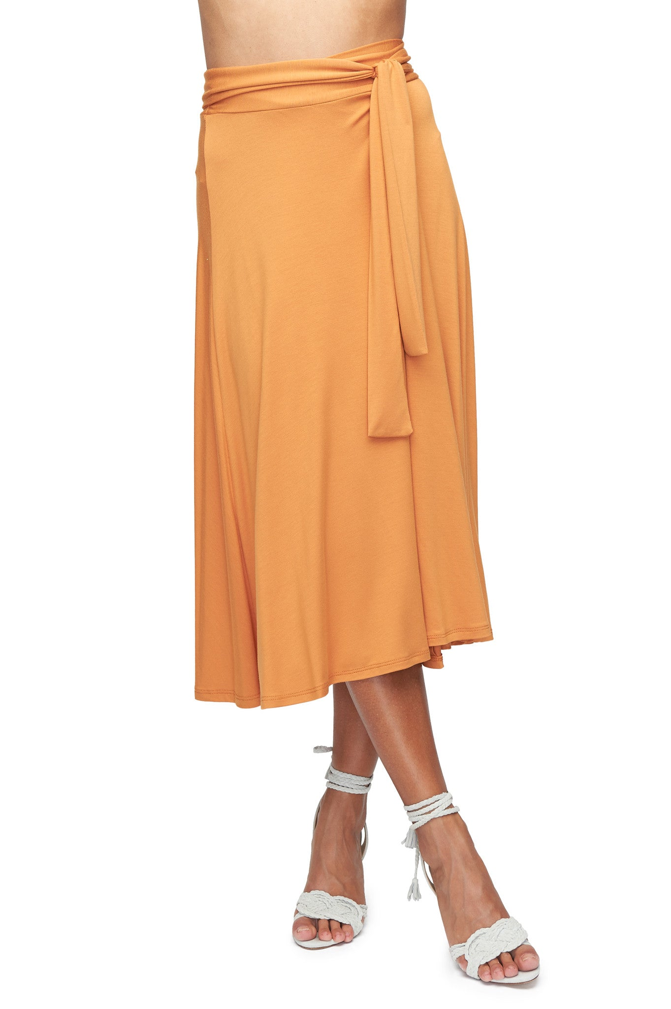 Mid-Length Wrap Skirt - Flan