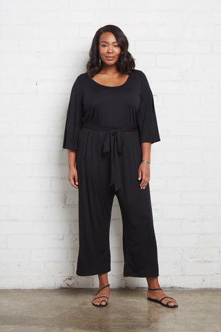 Dawn Jumpsuit - Black, Plus Size