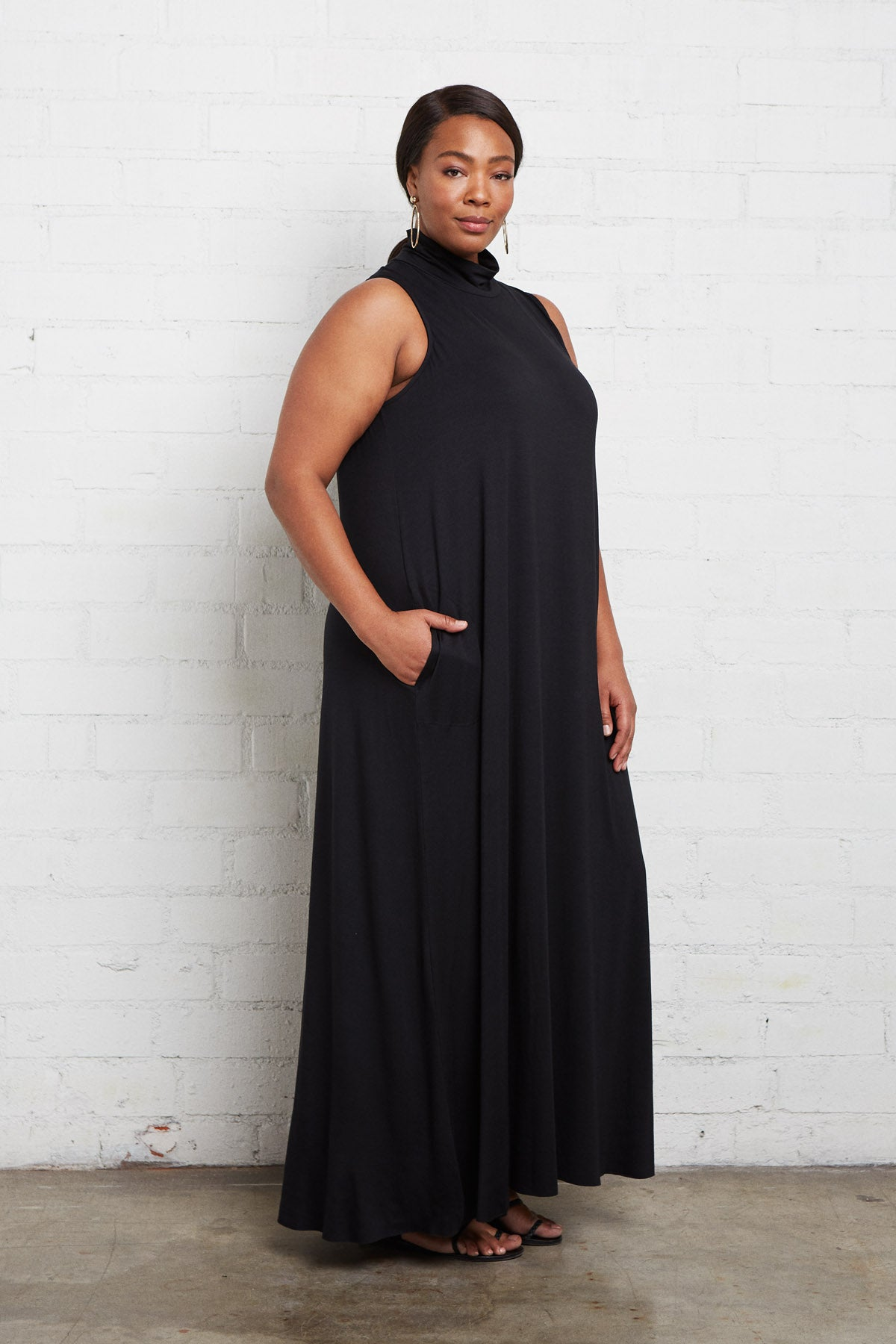 Cait Dress - Black, Plus Size