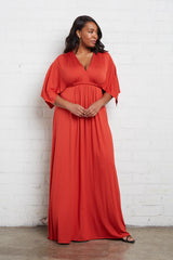 Long Caftan Dress - Poppy, Plus Size