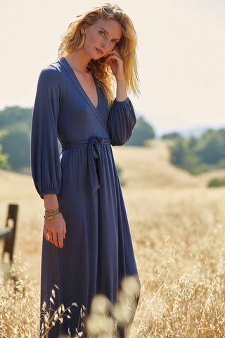 Greenwich Wrap Dress - Slate