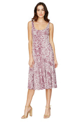 STASIA DRESS PRINT - CURRANT VIPER