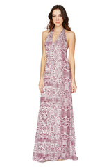 FAUSTO DRESS PRINT - CURRANT VIPER