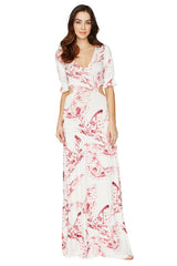 Finnie Dress Print - Vino Mariposa