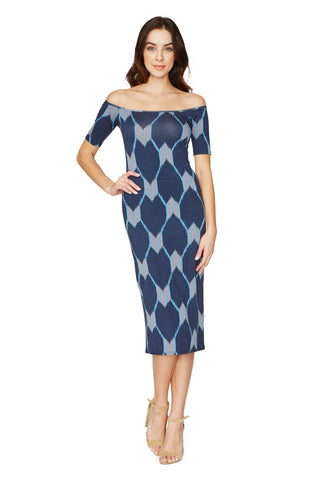 MID-LENGTH JAGGER DRESS PRINT - JAVA