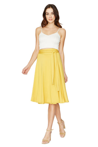 MID-LENGTH WRAP SKIRT - SOL