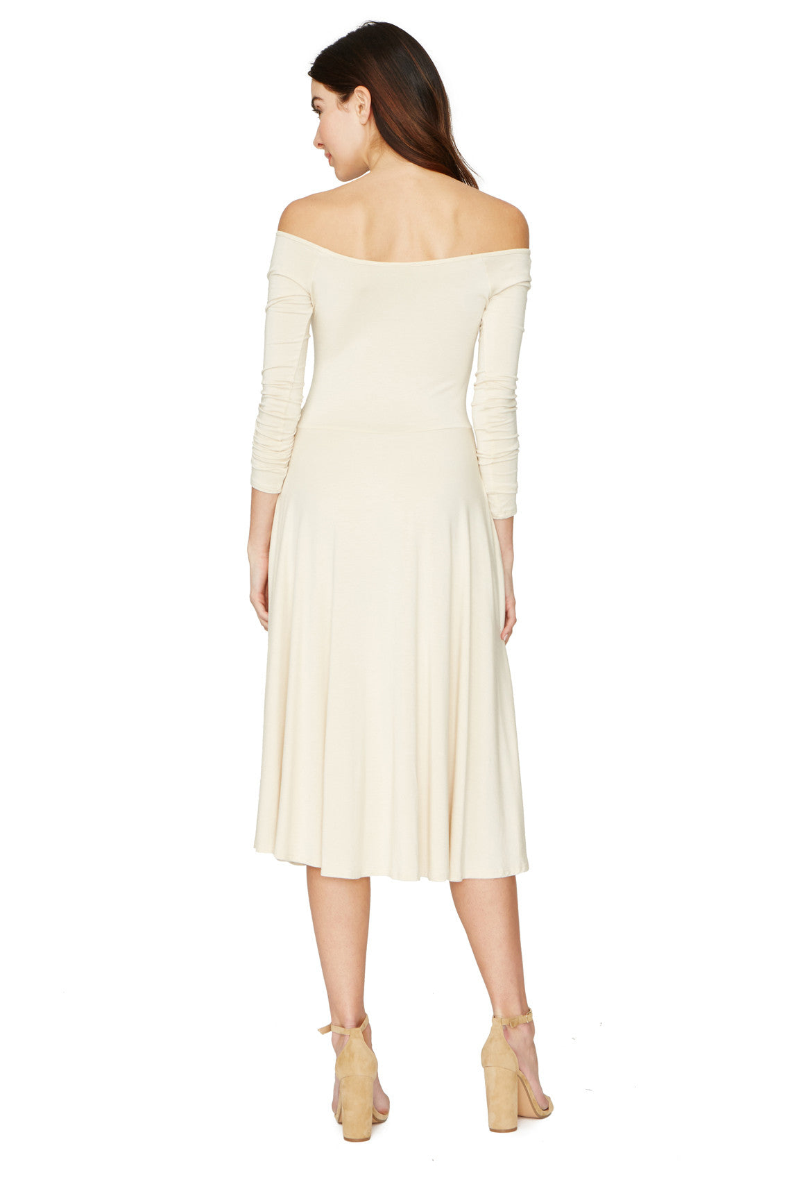 LONG SLEEVE LOVELY DRESS - CREAM