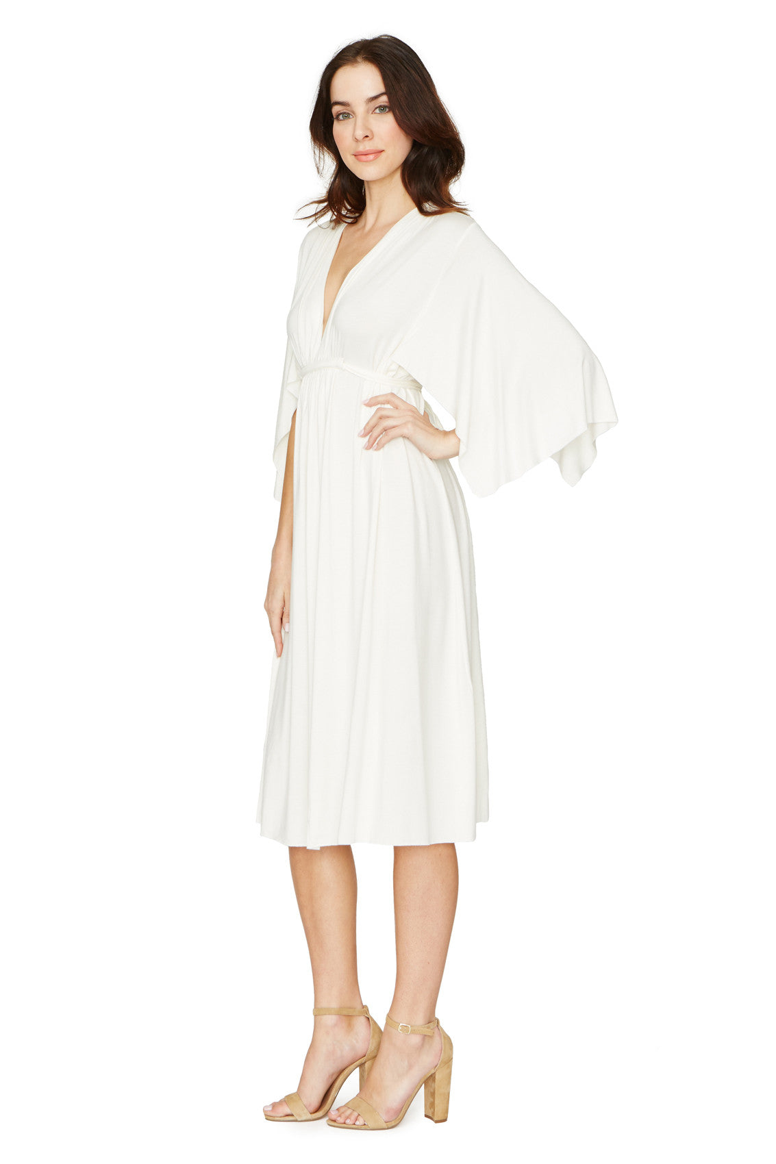 SHORT CAFTAN DRESS - WHITE