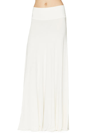 LONG FULL SKIRT - WHITE