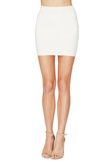 Bandage Mini Skirt - White