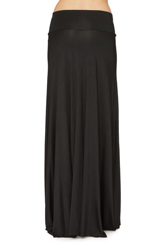 LONG FULL SKIRT - BLACK