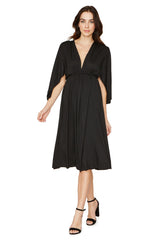 SHORT CAFTAN DRESS - BLACK