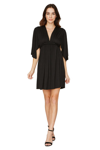 MINI CAFTAN DRESS - BLACK