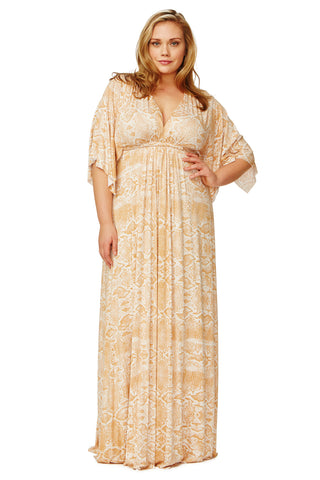 LONG CAFTAN DRESS WL PRINT - MISO VIPER