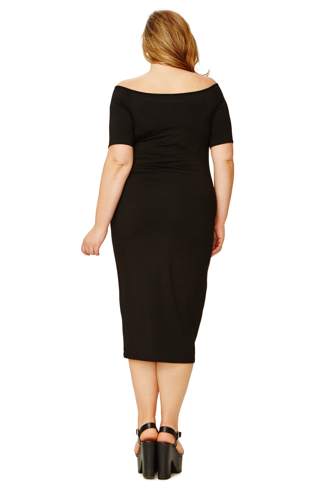 MID-LENGTH JAGGER DRESS WL - BLACK
