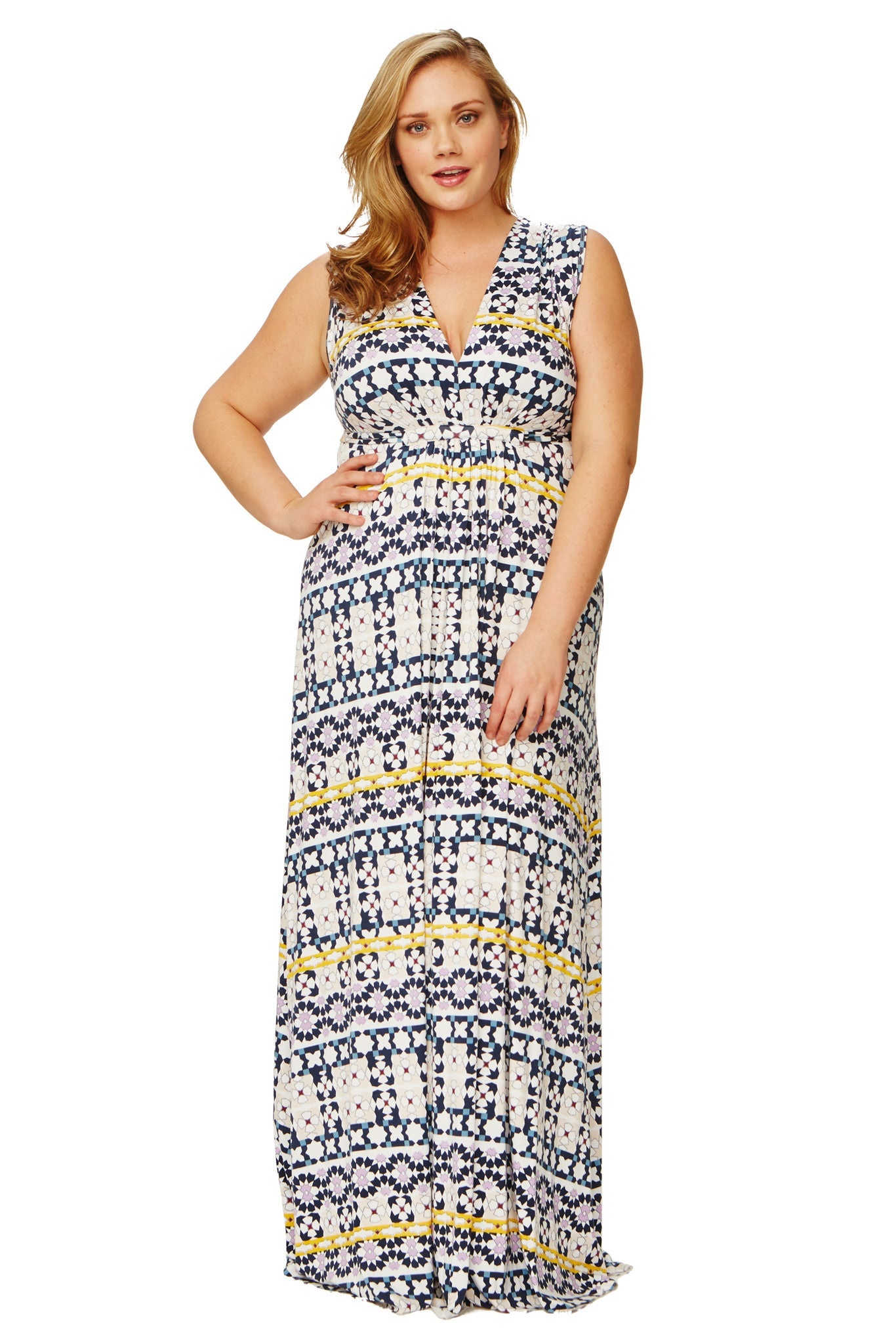 Long Sleeveless Caftan WL Print - Morocco