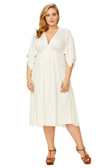 Short Caftan - White, Plus Size