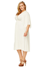 SHORT CAFTAN DRESS WL - WHITE