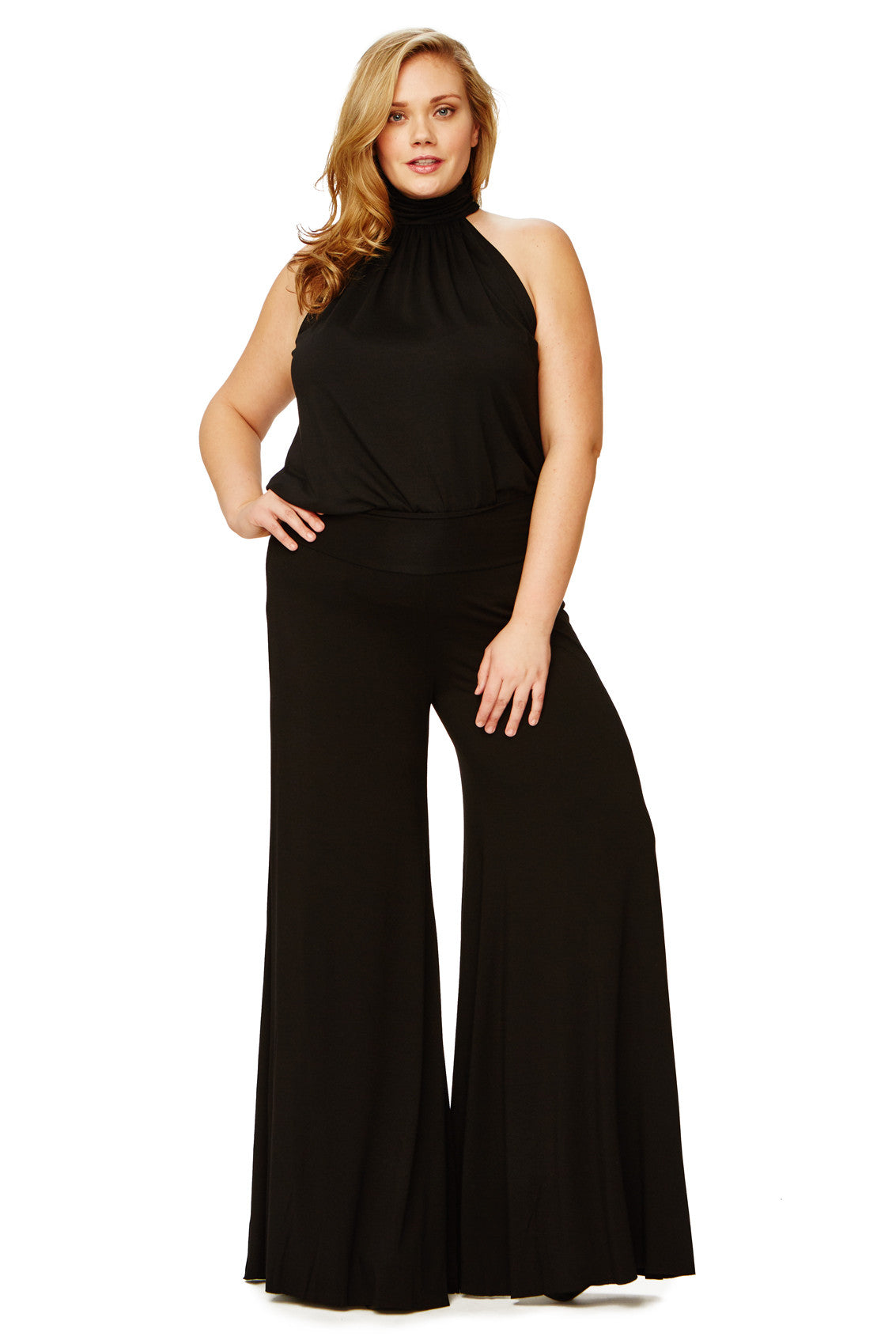 WIDE LEG TROUSER WL - BLACK