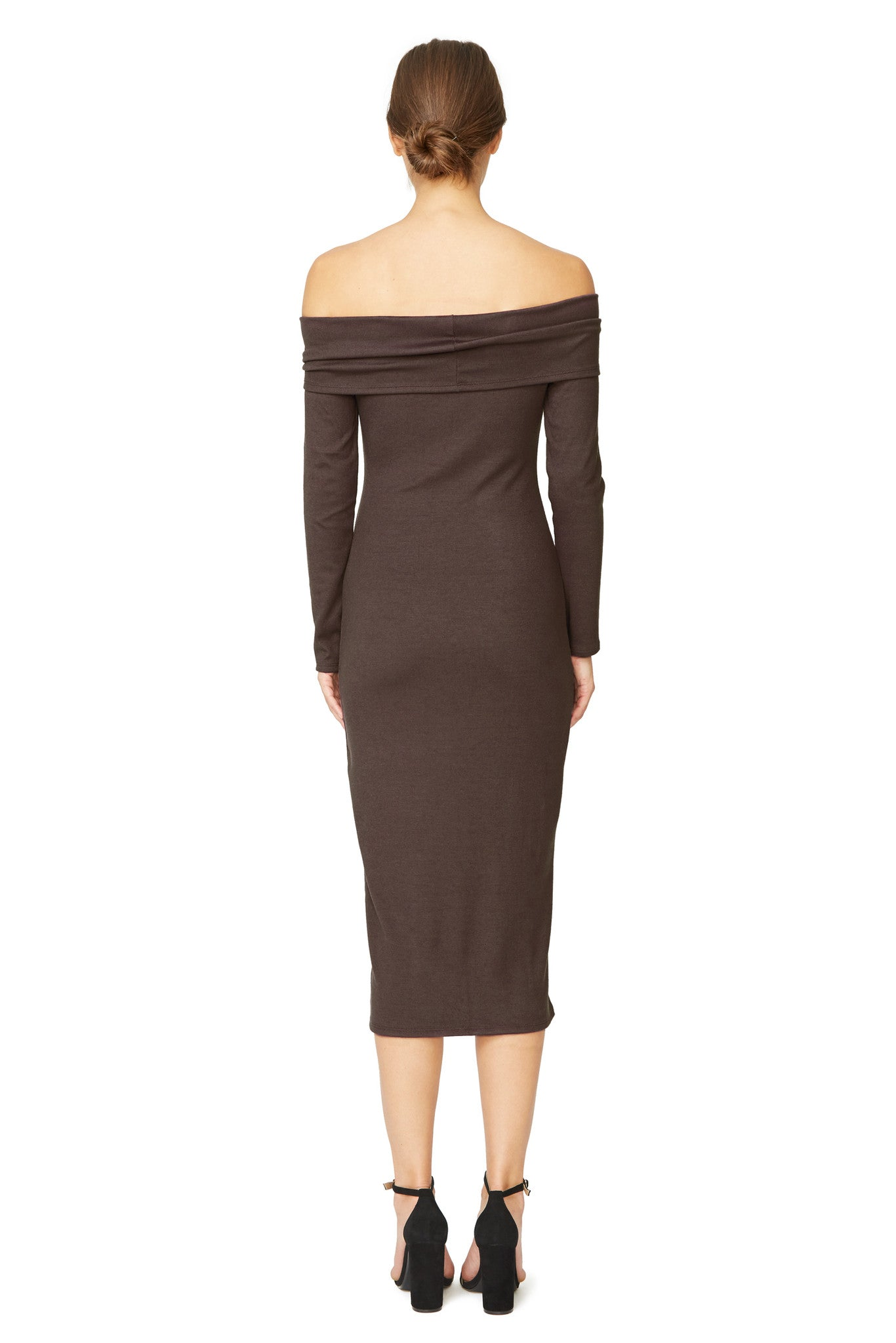 Luxe Rib Welsy Dress - Cocoa