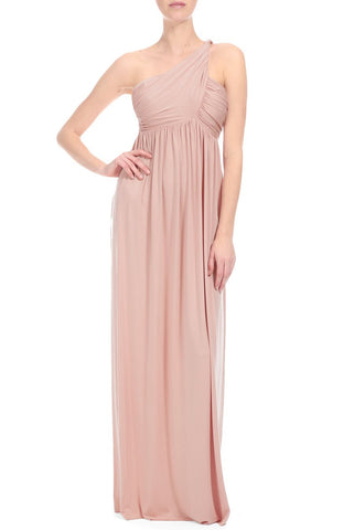 LONG TWIST SHOULDER DRESS - MESA