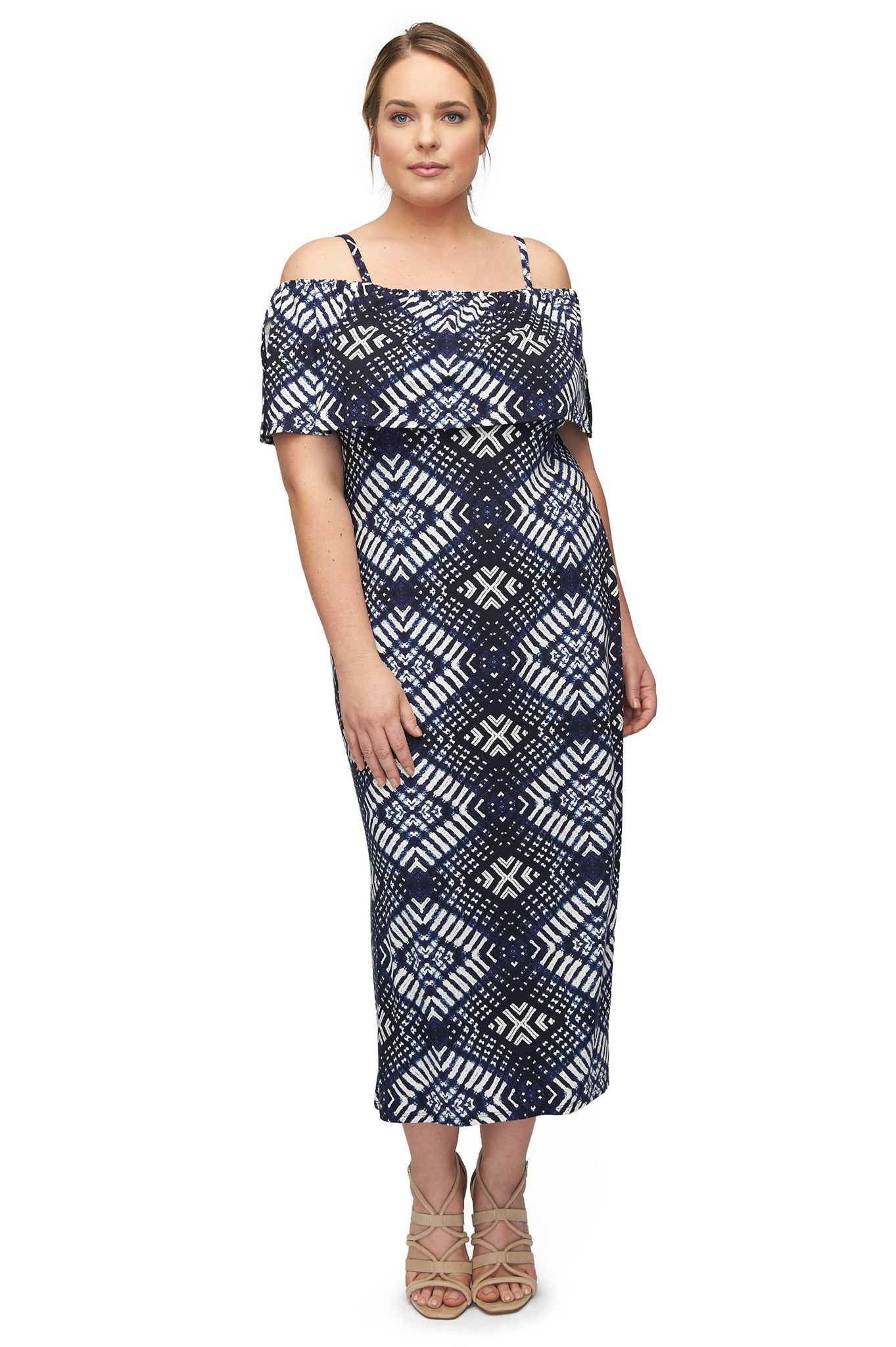 Pascal Dress WL Print - Indigo Ikat