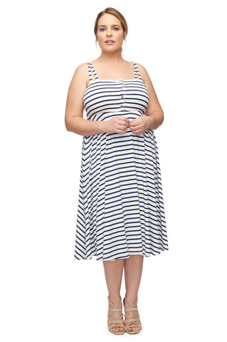 Valery Dress WL Print - Jupiter Stripe