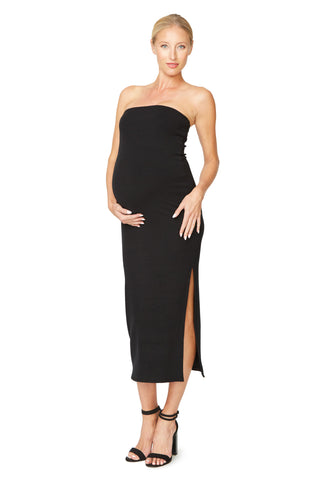 Luxe Rib Bobbi Dress - Black