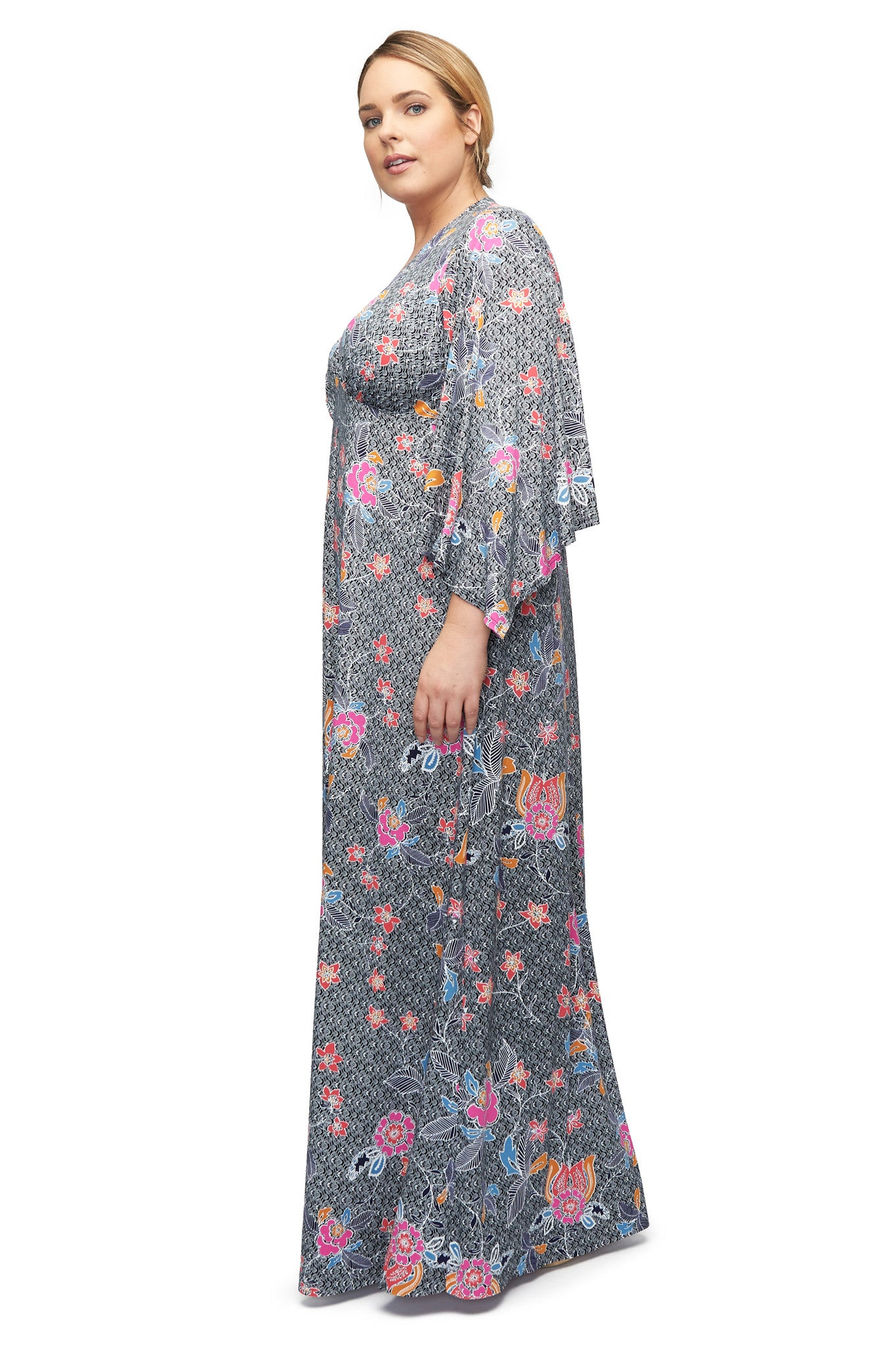 Brayan Dress WL Print - Island Flower