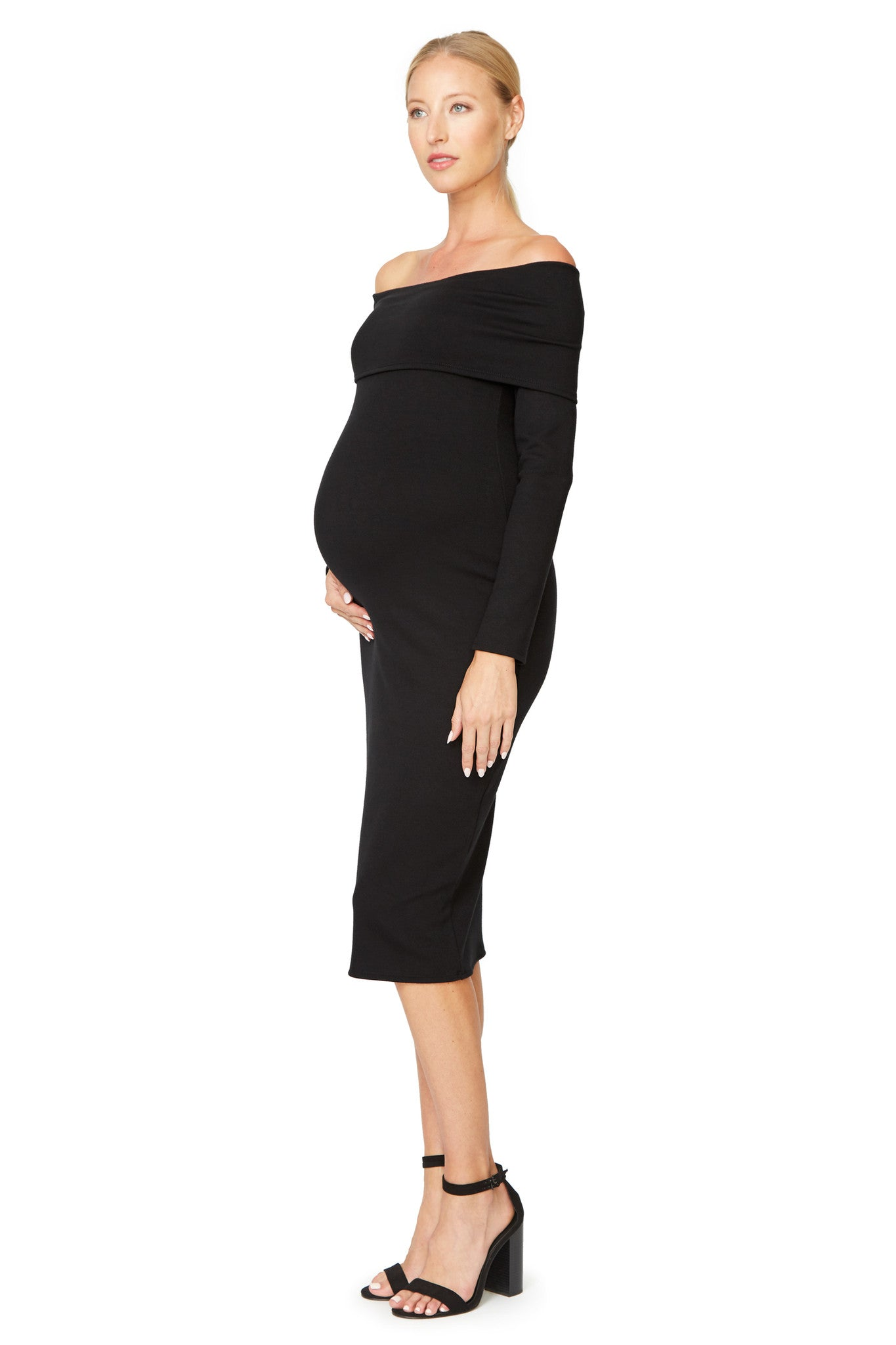 Luxe Rib Welsy Dress - Black