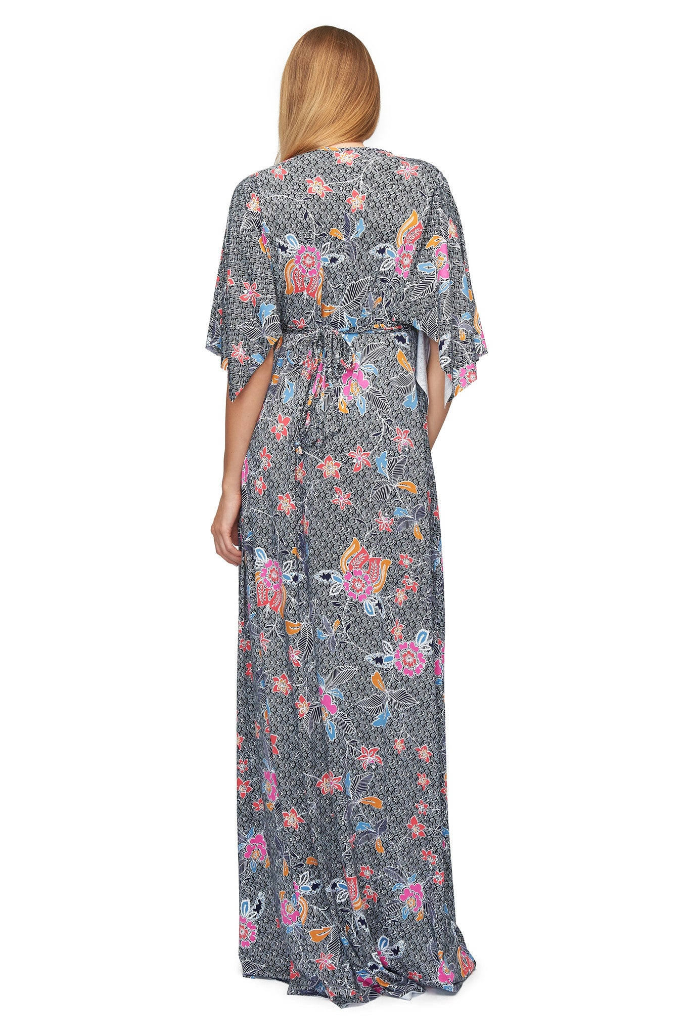 LONG CAFTAN DRESS PRINT - ISLAND FLOWER