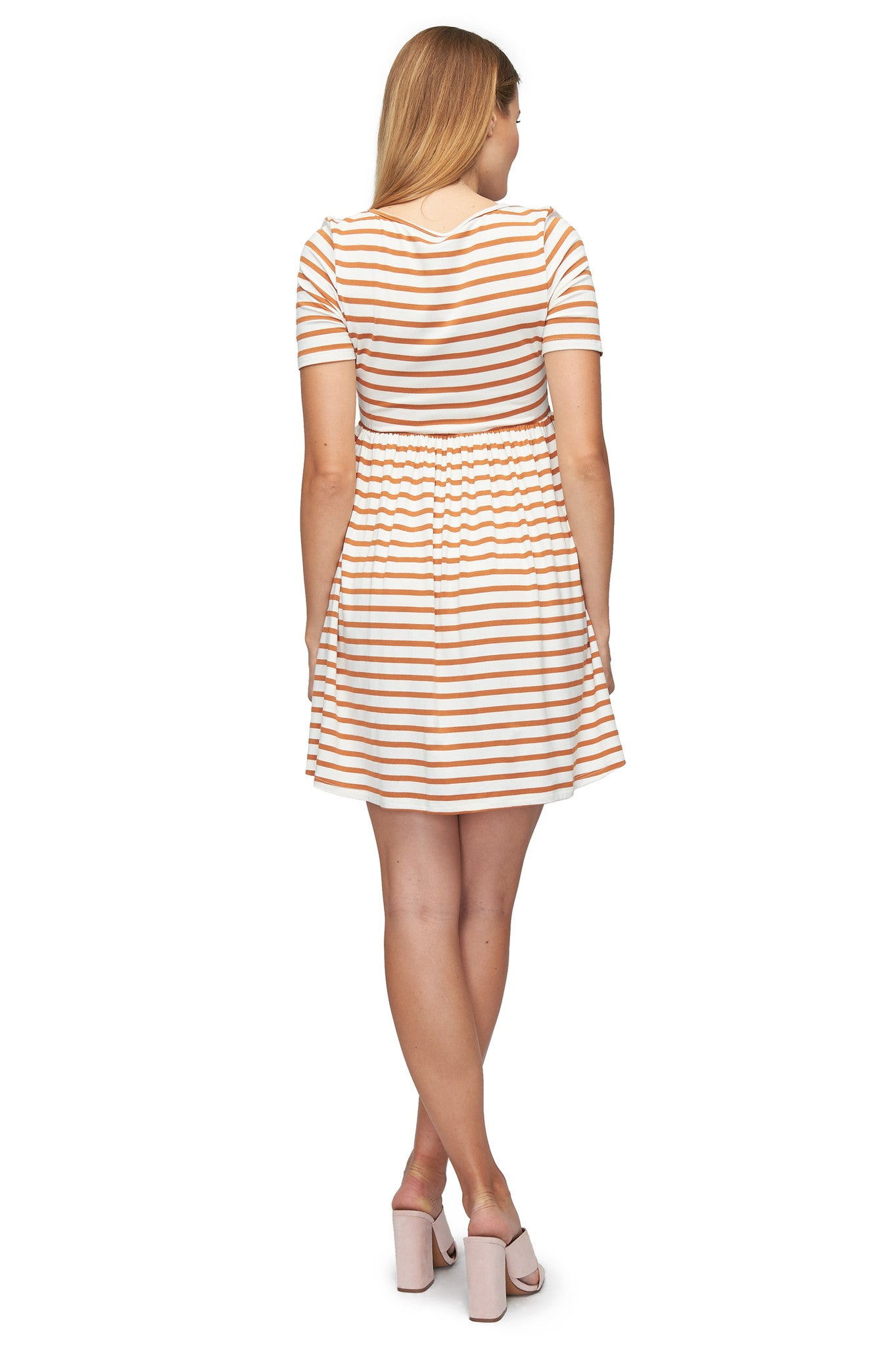 Marcelle Dress Print - Flan Stripe