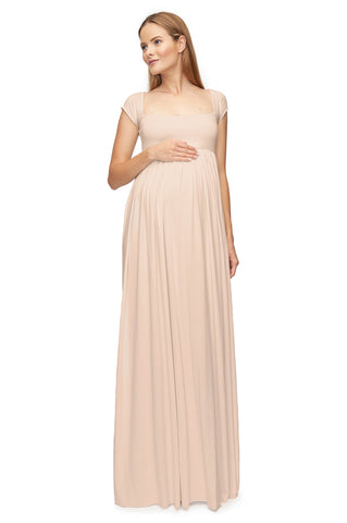 Cap Sleeve Isa Dress - Champagne