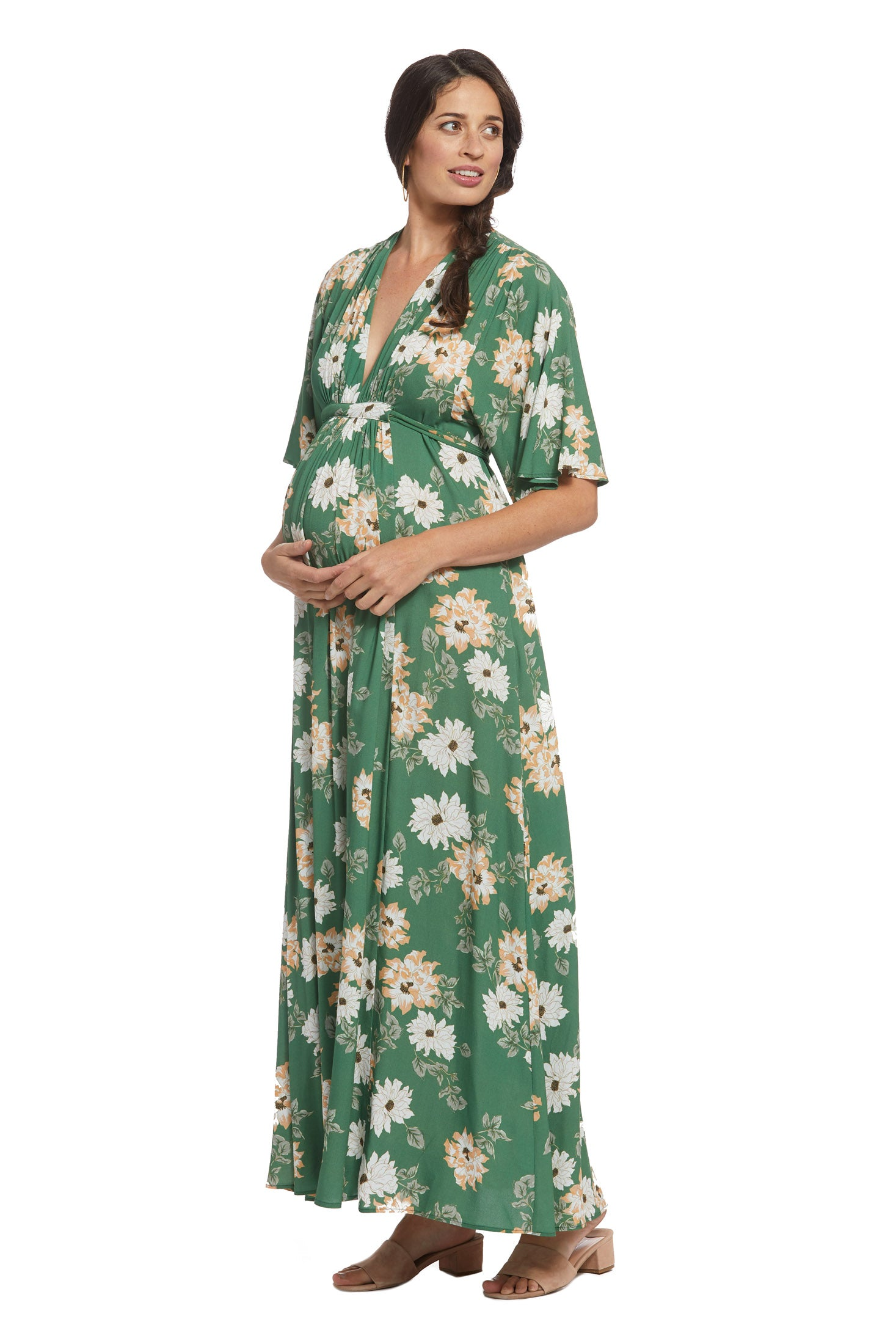 Crepe Rayon Willow Dress - Zinnia, Maternity
