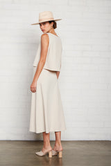 Linen Canvas Ainsley Skirt - Ecru