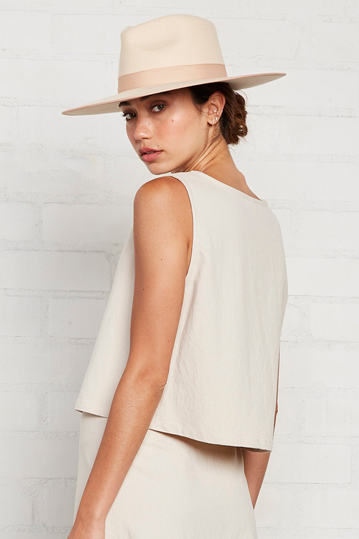 Linen Canvas Allison Tank