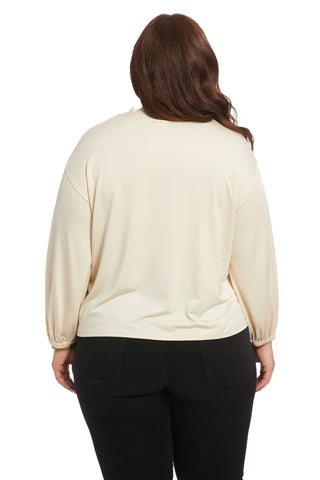 Amelie Top - Cream, Plus Size