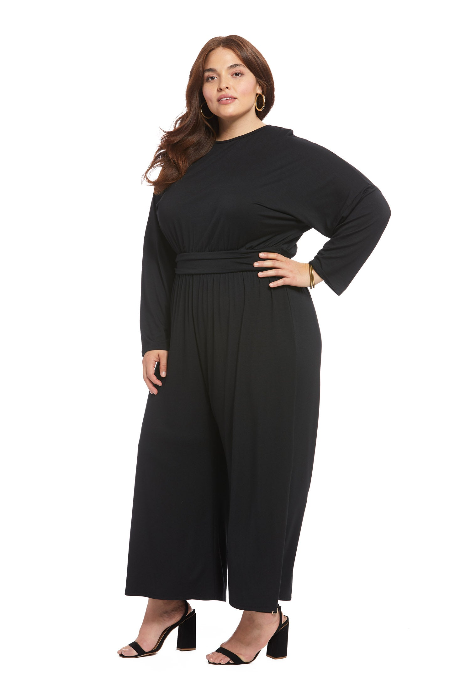 Asta Jumpsuit - Black, Plus Size