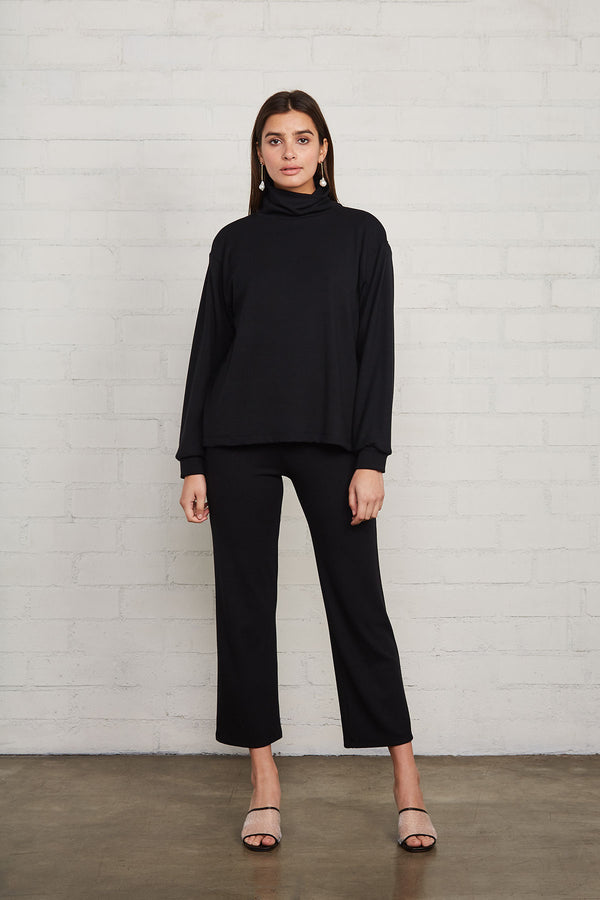 Luxe Rib Turtleneck Sweatshirt