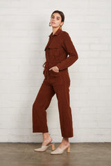 Corduroy Dylan Jumpsuit - Brown Sugar