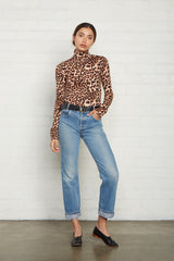 Basic Turtleneck - Leopard