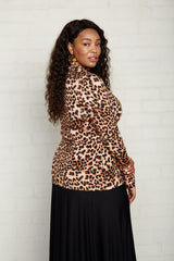 Basic Turtleneck - Leopard, Plus Size