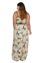 Britta Wrap Dress - Paradise, Plus Size