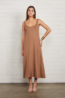 Metallic Rib Fiona Dress