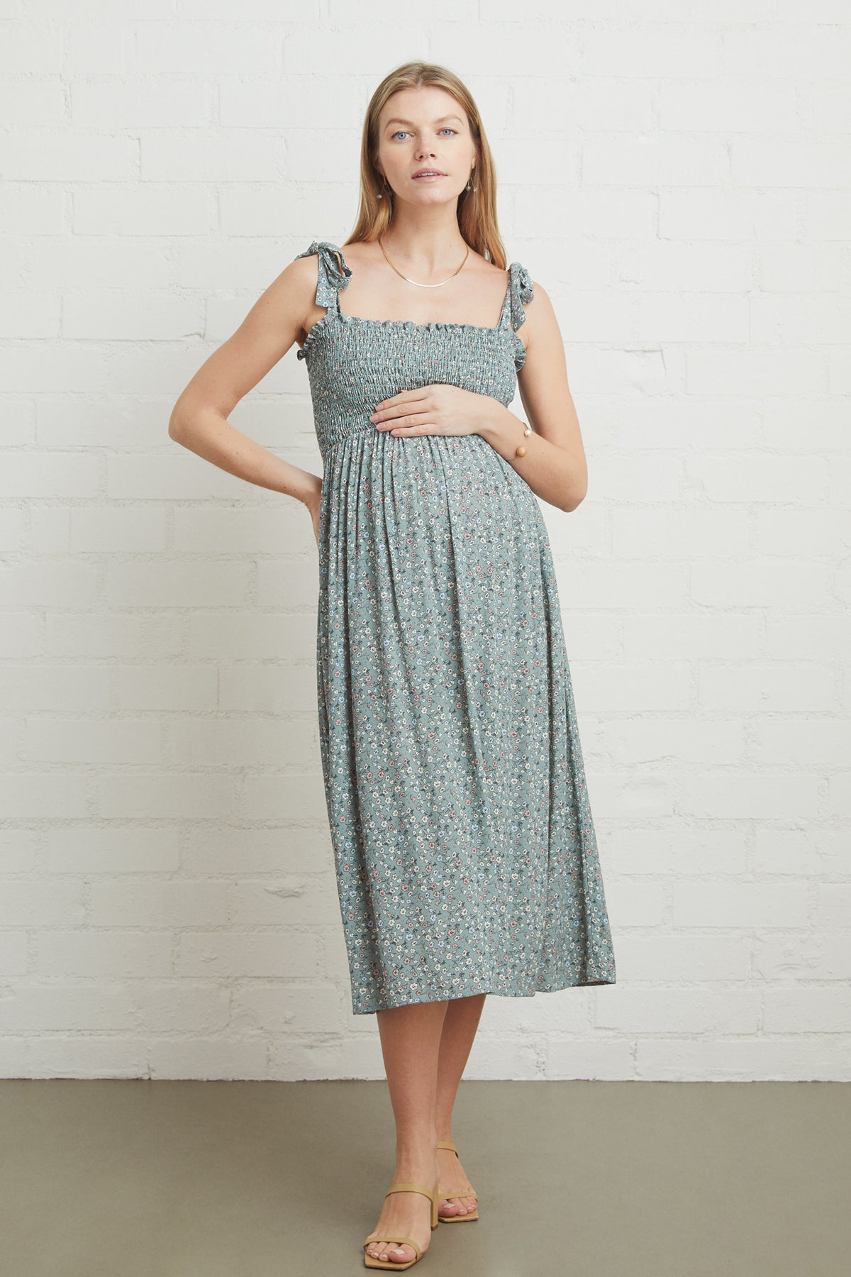 Crepe Pixie Dress - Forget Me Not, Maternity